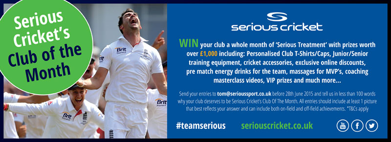 WIN BIG with Serious Cricket's Club Of The Month Competition